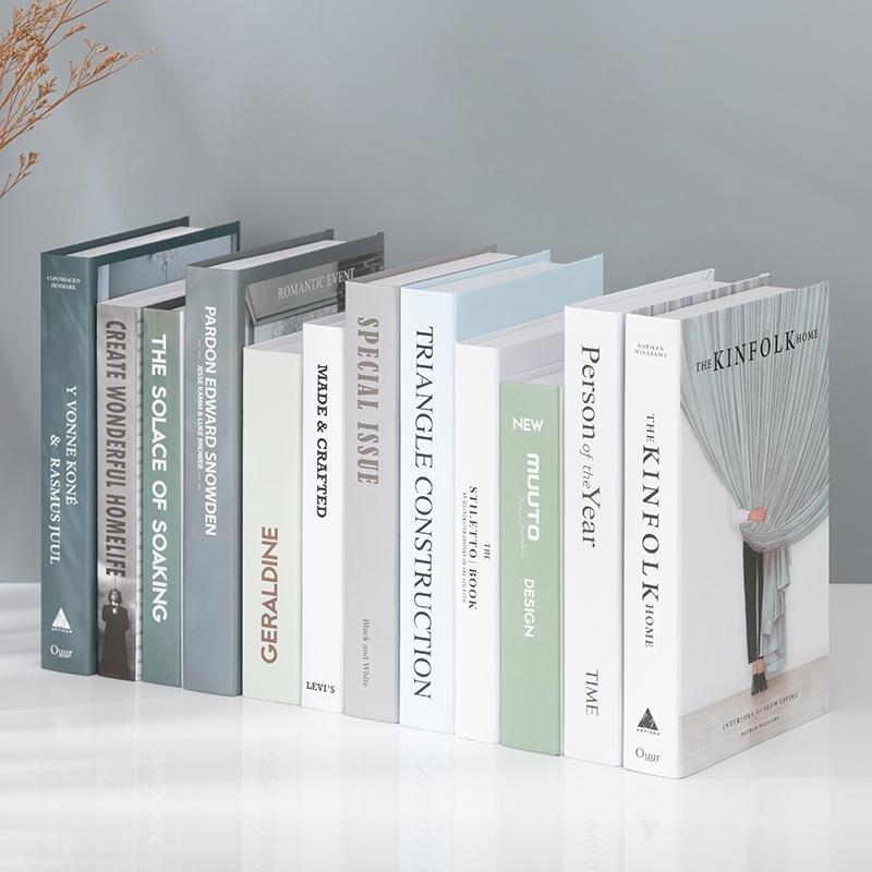 Fashion Fake Book Precs Decoración Sala de estar Foto Props Living Room Decorative Simple Style Y0219
