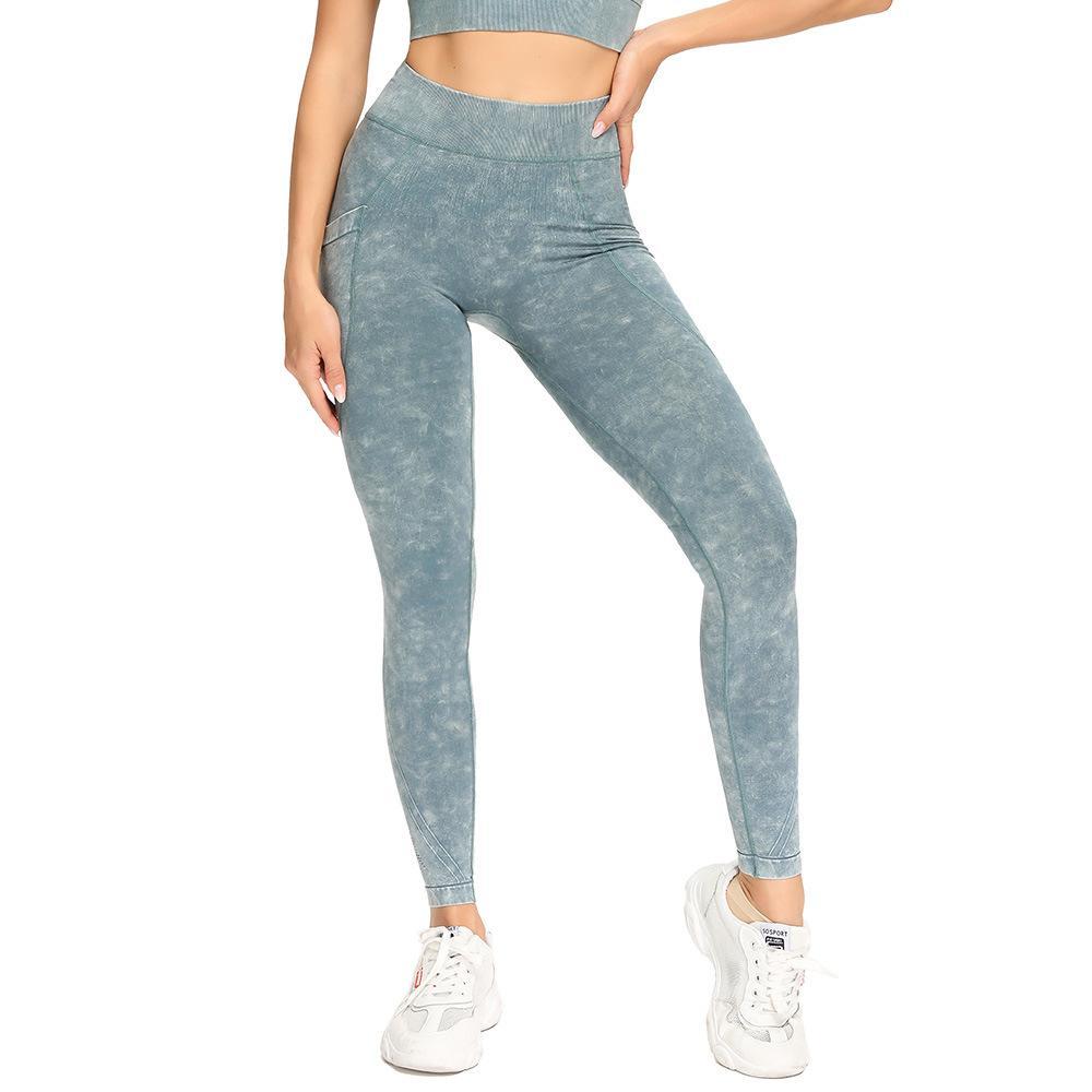 Pantalon de yoga Femmes Gym Sport Leggings Entraînement Elastic Running Collants Fesses Squat Squat Squat Fitness Capris