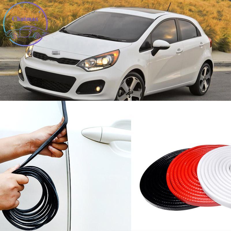 Tire de goma de la tira del sello del coche de 10 m para la serie KIA FORTE SORENTO RIO K3 K5 Aislamiento de sonido de acero interno PVC anti-colisión Protector