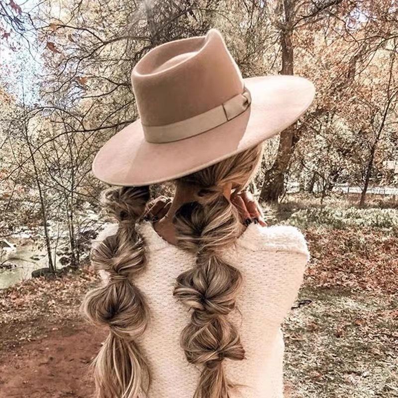2021 Yeni Moda Yün Fedoras Şapka Kadınlar için Caz Yün Şapka Toptan Dropshipping MVJZ