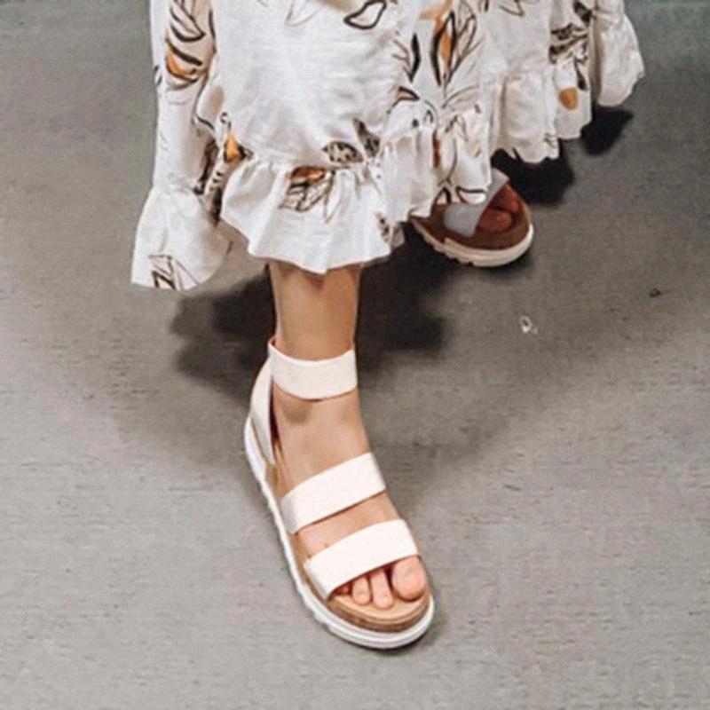 Mujeres Plataforma Sandalias Mujeres Peep Toe High Dihope Heel Tobillo Hebillas Sandalia Espadrilles Sandalias Sandalias Zapatos Sparx Sandalias Zapato Azul B0A6 #