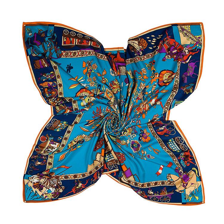 2021 Fashion Ladies High Quality Silk Scarf Summer Print Scarf Multi-purpose Luxury Appearance Accessories Scarf No Box yh8