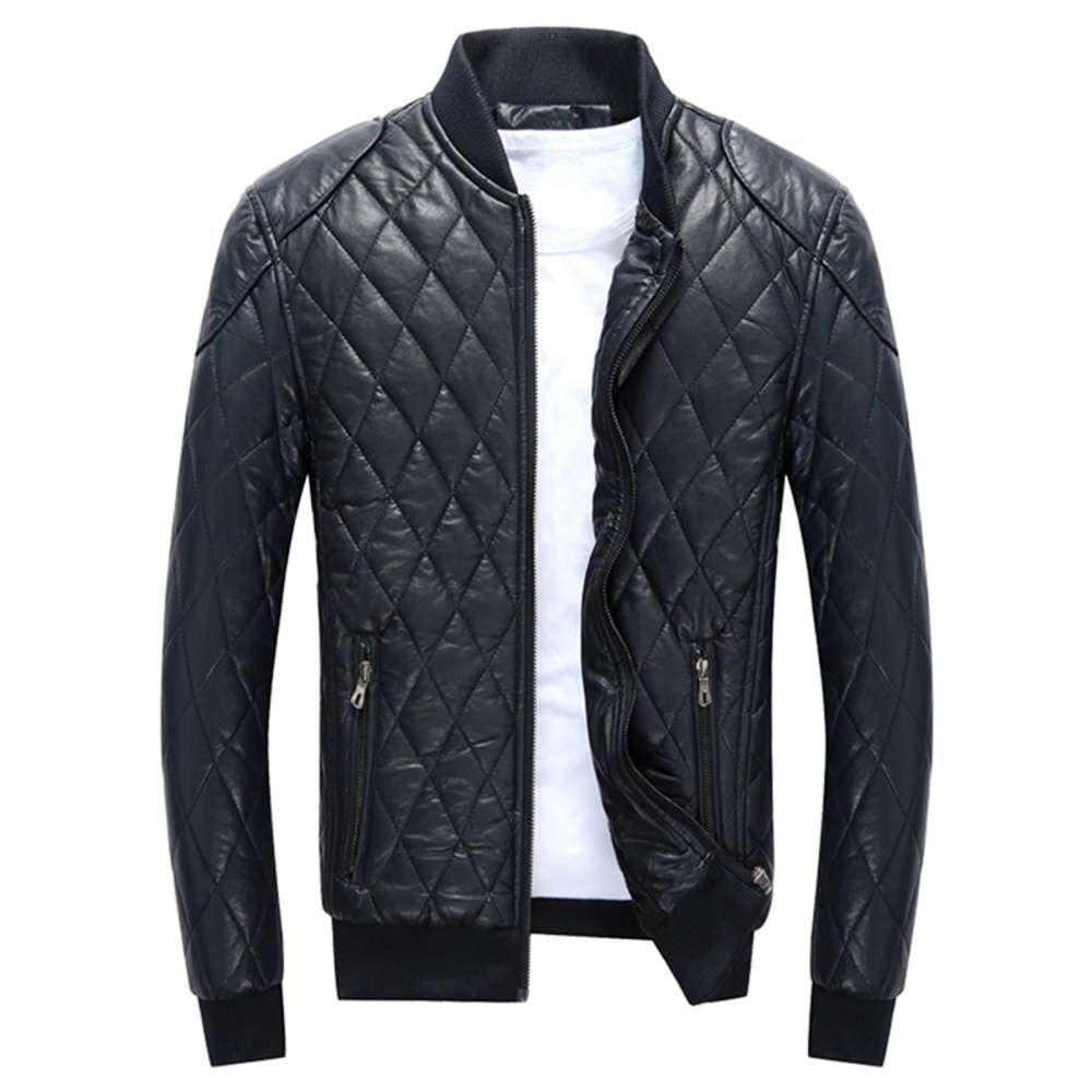 2020 Chaquetas de hombres Motocicleta PU Jacket Macho Otoño Casual Abrigos de cuero Slim Fit Mens Brand Ropa