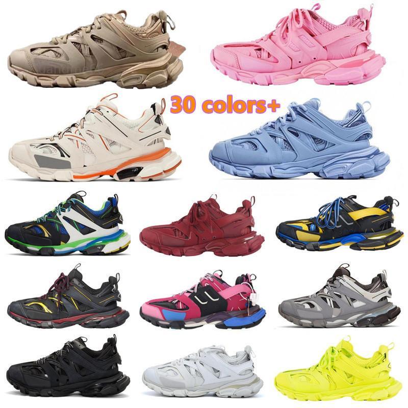 Track 3.0 Runners Shoes 2 الرجال النساء 3 متر أسود أصفر وردي الأزرق الرياضة عارضة الأحذية عالية منصة المدربين أحذية رياضية 36-45