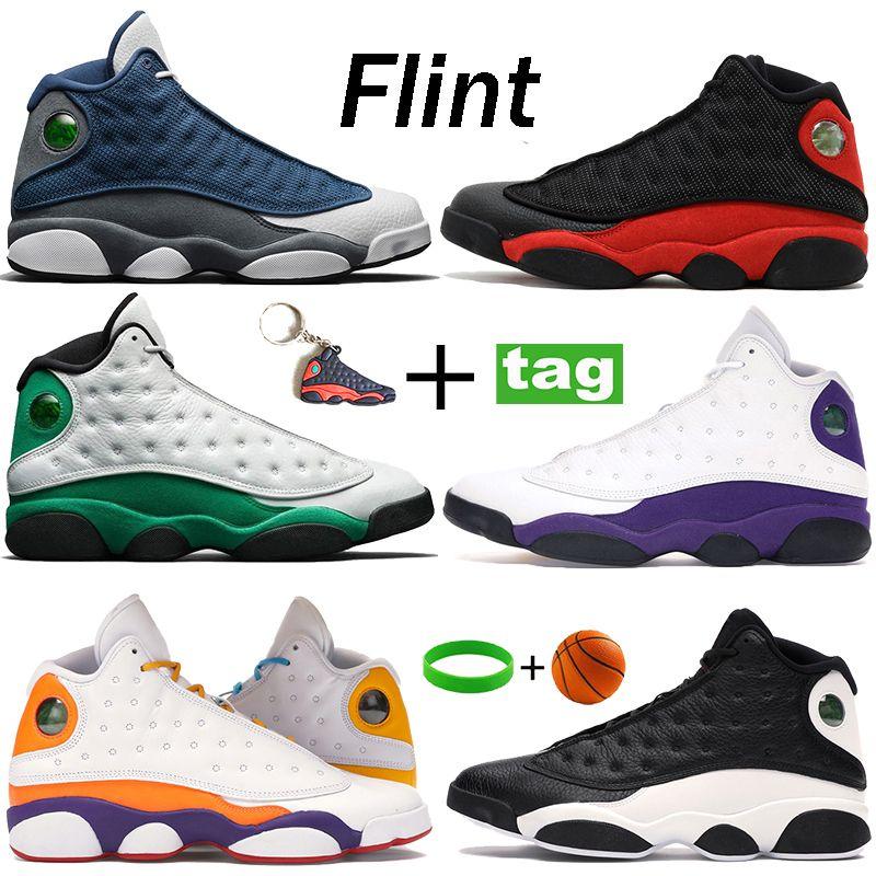 Herren Basketballschuhe 13 Flint Lucky Green Reflektierende Rückseite Er hat Spiel 13s laufende Sneakers gezüchtet Spielplatz Sporttrainer 40-47