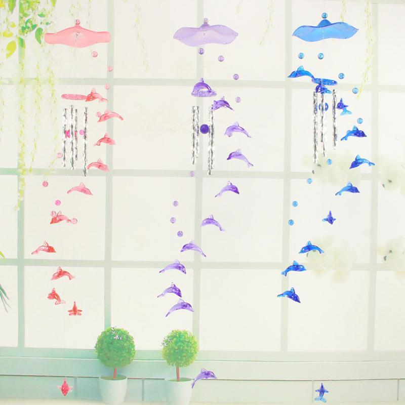 Decorative Objects & Figurines Creative Lucky Humming Bird Wind Chimes Bells Hanging Gifts Dreamcatcher Pendant Wall Home Car Decor Garden W