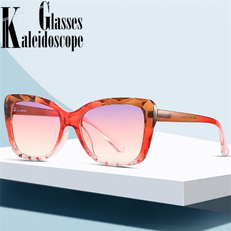 2021 Cat Eye Sunglasses Women Vintage Deisgner Gradient Sun Glasses Ladies Big Frame Fashion outdoor Eyewear UV400