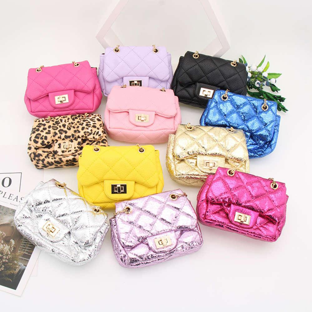2021 New Princess Women's Bag Coreano Versátil Mini Square Bag Cadena y Bolso para niños inclinados