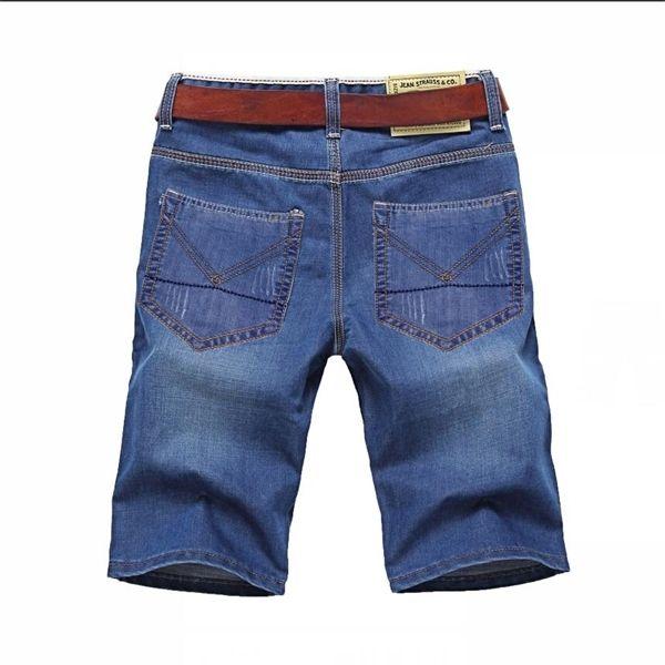 Classdim Men's Denim Shorts De bonne qualité Jeans courts Hommes Coton Solid Solid Court Court Jeans Homme Bleu Casual Jeans Short L0221
