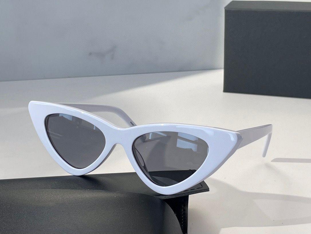 Óculos de sol de verão para homens e mulheres gato estilo olho 452 placa retro anti-ultravioleta quadro completo moda óculos aleatório caixa