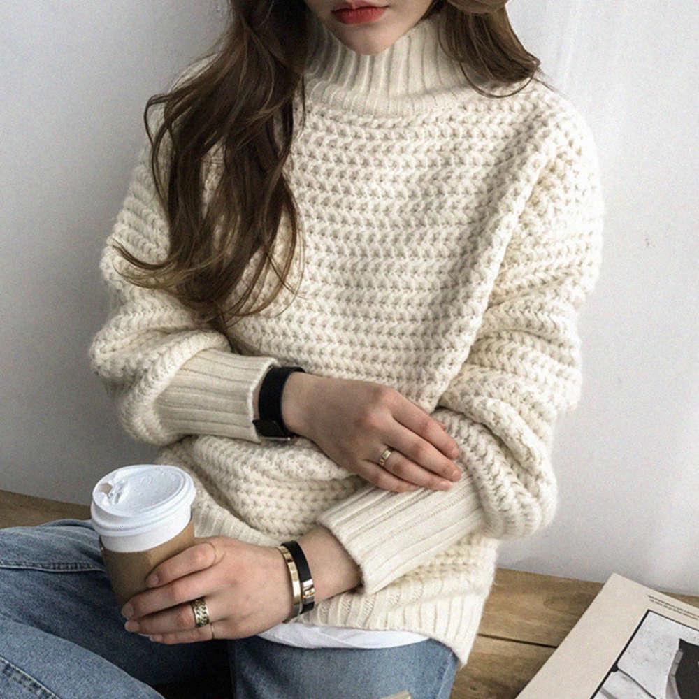 Autunno e inverno 2020 Women's Warm Personalizzato Moda Top Maglione Manica ad alto colletto