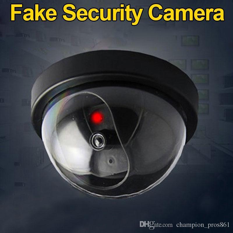 Имитация камеры безопасности фальшивая купольная манекена камеры с вспышкой светодиодный свет