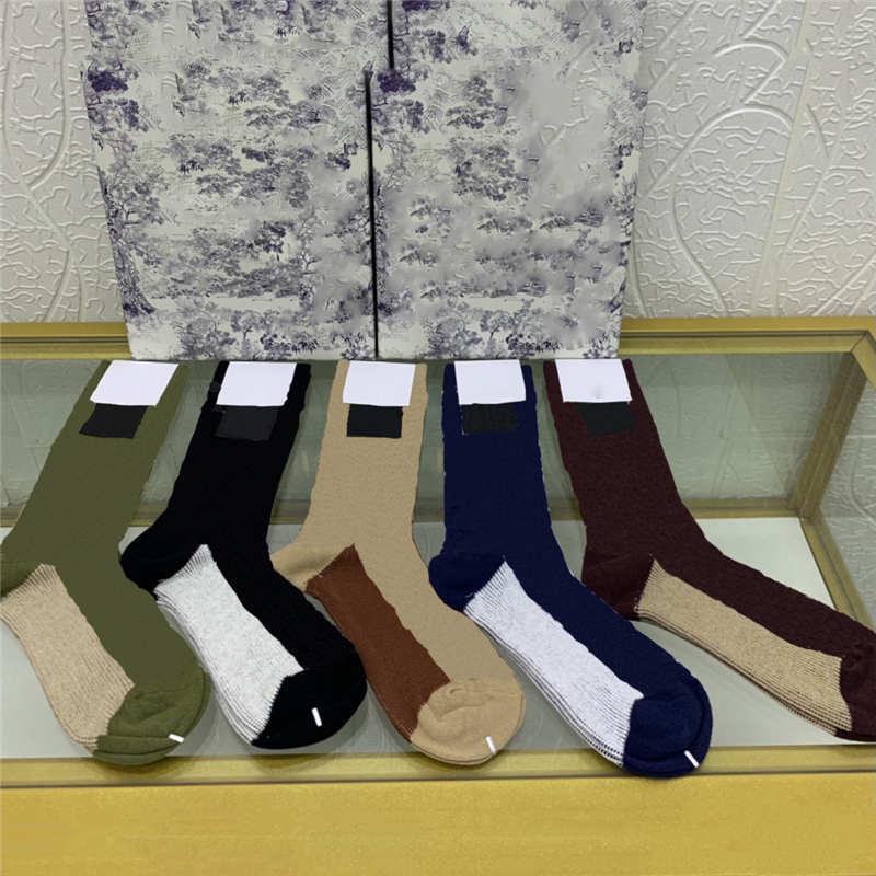뜨거운 판매 면화 유니섹스 양말 전체 자카드 문자 Womens 긴 스타킹 패션 캐주얼 소녀 소년 양말