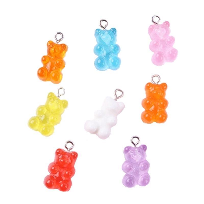 32 шт. Смола липкий медведь конфеты ожерелье подвески очень милый брелок кулон ожерелье подвеска для отделки DIY 161 U2