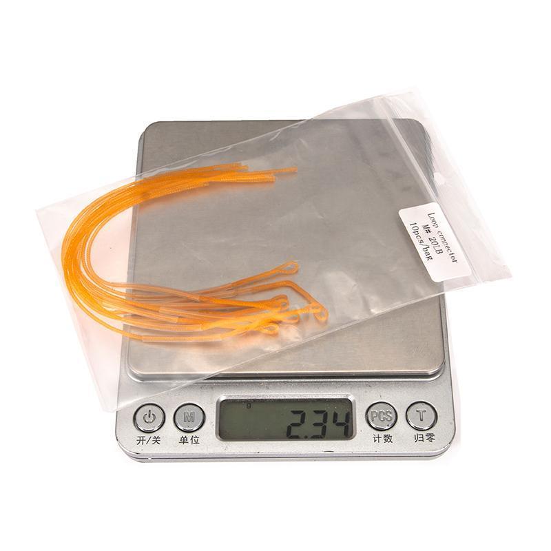 Linha de trança 10 PCs de bobina de conexão de chumbo Bobina de alta resistência Nylon Braided Loop Linhas de conector