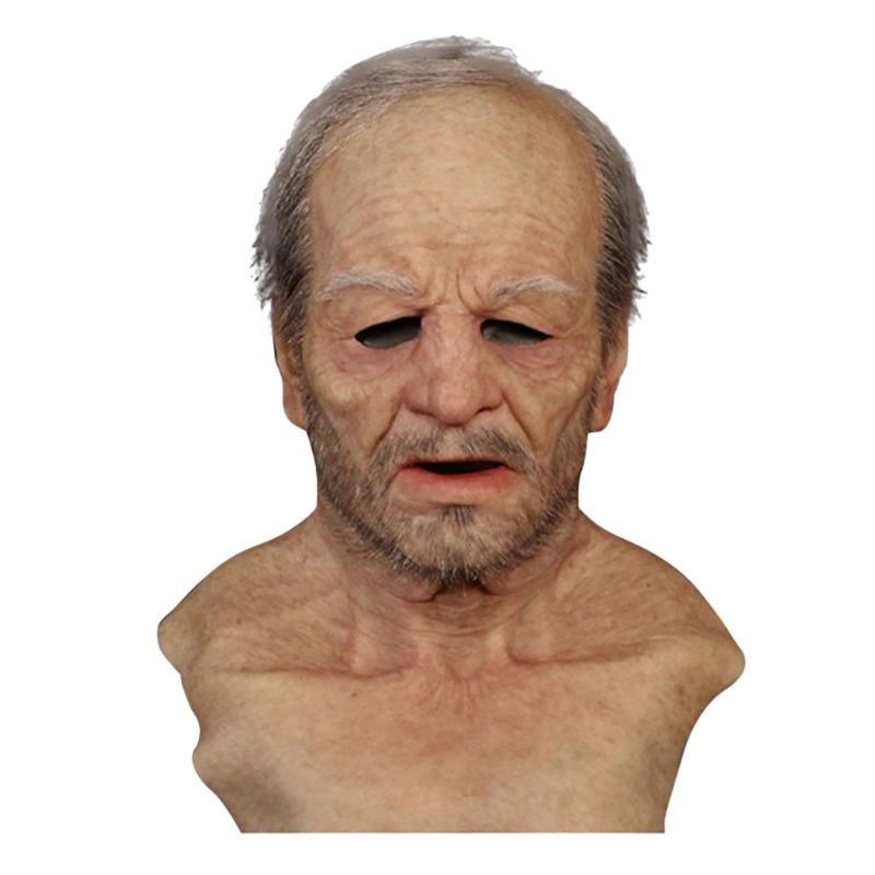 Altro Evento Forniture per feste anziano uomo maschera finta realistico halloween vacanza divertente super morbido adulto riutilizzabile bambini bambola regalo giocattolo # 10