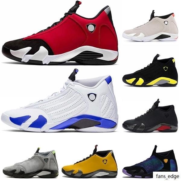Üst Moda Erkek Basketbol Ayakkabıları 14s Jumpman 14 Spor Red Se Siyah Kırmızı Hiper Kraliyet Dobernbecher Erkek Sneakers Tasarımcı Eğitmenler Boyutu 13