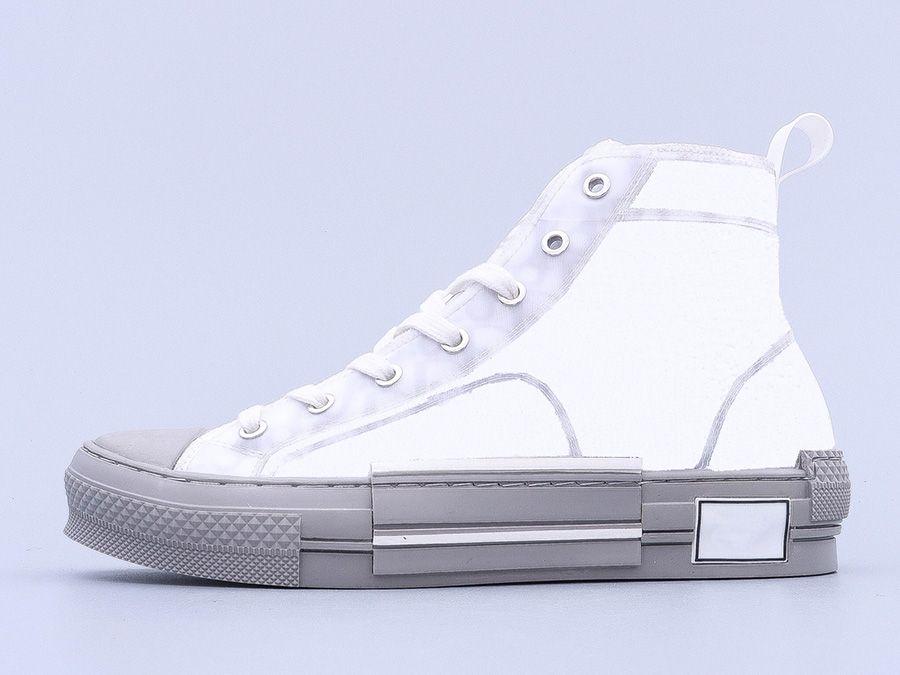 2021 최고 품질 B22 B23 캐주얼 신발 높은 낮은 탑 스 니 커 즈 비스듬한 트레이너 자수 인쇄 알파벳 캔버스 신발 여성 남자 스타일리스트 신발