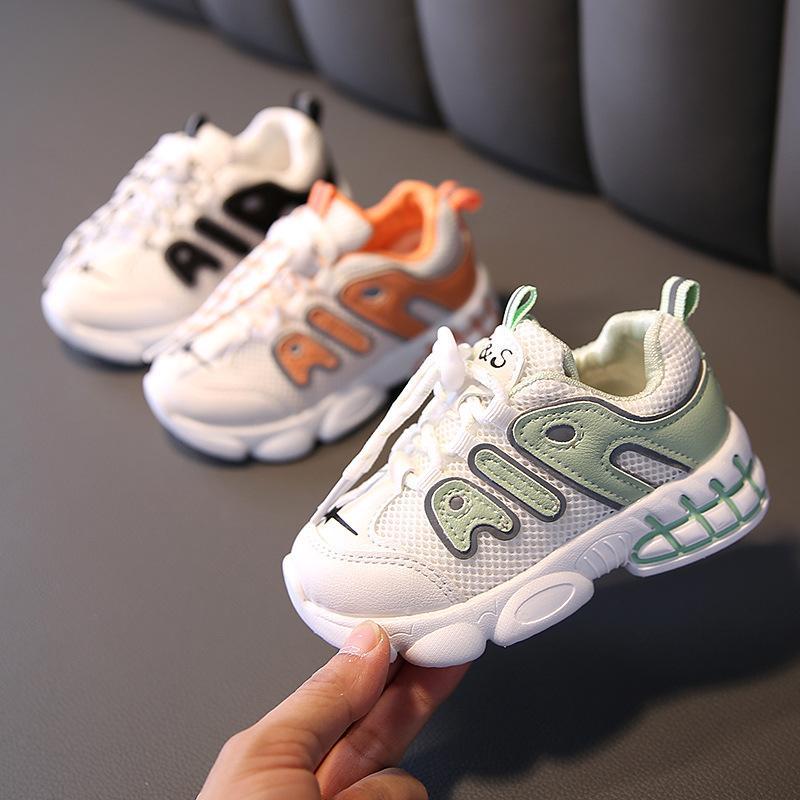 الخريف الطفل بنين بنات أول مشوا الرياضة أحذية أطفال أحذية رياضية الأطفال لينة أسفل تنفس الاحذية حجم 21-30 210315