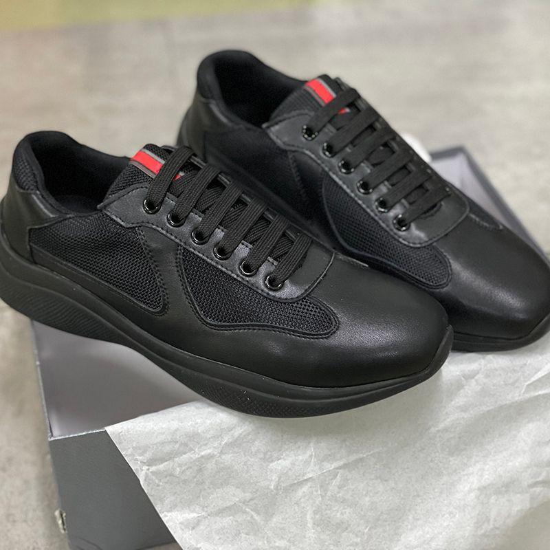 الرجال أمريكا كأس XL أحذية جلدية أحذية براءات جلدية مسطحة مدربين أسود شبكة الدانتيل متابعة عارضة الأحذية عداء في الهواء الطلق المدربين جودة عالية