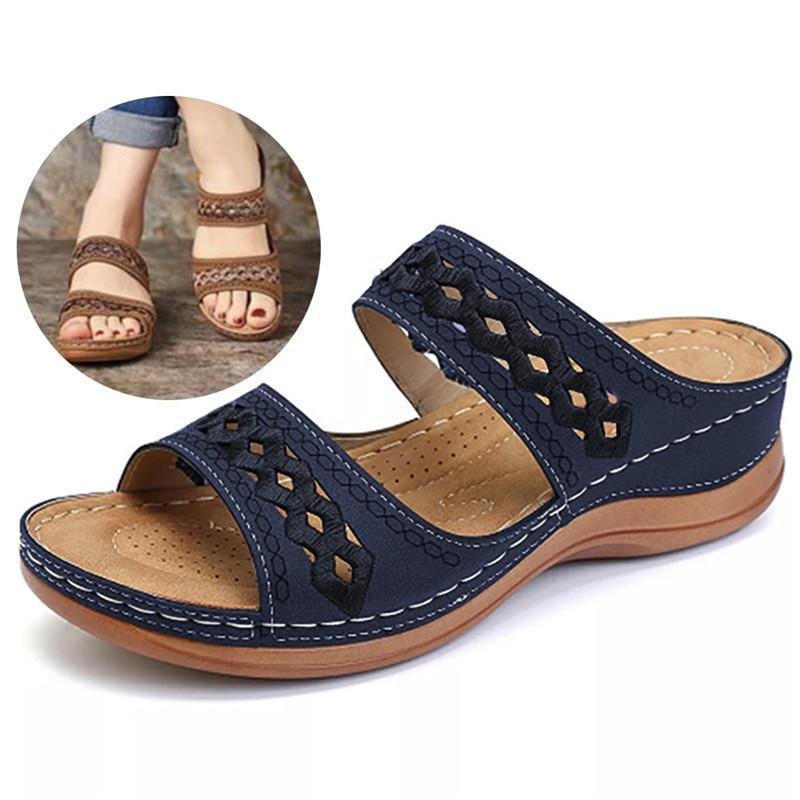 Frauen Sandalen Mode Wedges Schuhe Für Frauen Hausschuhe Sommerschuhe mit Fersen Sandalen Flip Flops Frauen Strand Freizeitschuhe 210225