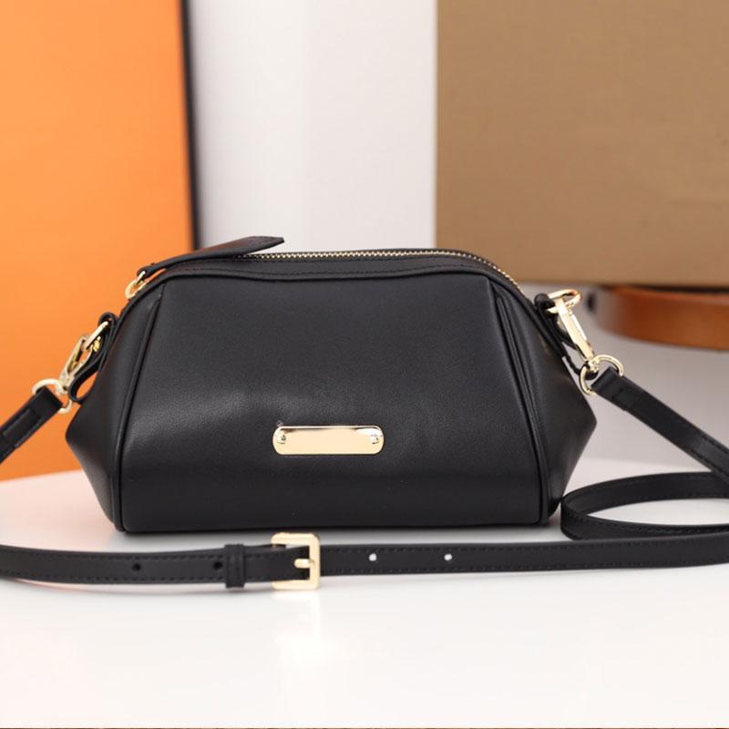 Women Handbag Dumpling Shape Crossbody Shoulder Bag Genuine Leather Classic letter Hand Bags Detchable Adjustable Strap Lady Clutch Golden Hardware Wallets