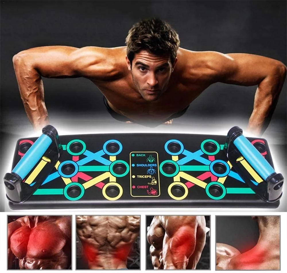 Push-up Rack Folded Board Set Abdominales Bar Multi-Function Fitness Home Gym Chest Muscle Grip Training and Exercise Equipment