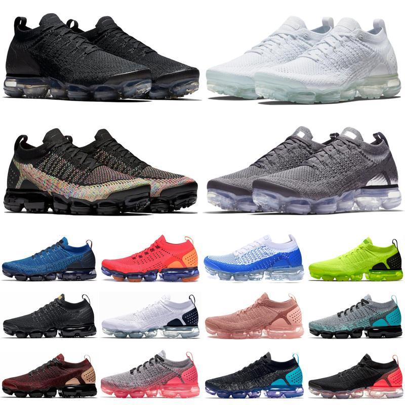 vapormax vapor max 2019 الأزياء الصدأ الوردي النساء الرجال 2.0 أحذية في الهواء الطلق الثلاثي الأسود الأبيض زيبرا كروم أوريو المدربين رياضة أحذية رياضية 36-45