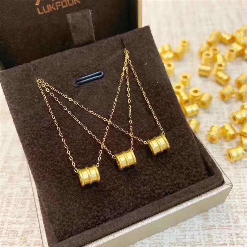 Colgante de la cintura pequeña de oro puro 3D Hard 925 plateado collar de oro plateado