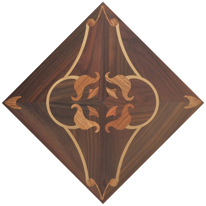 Brass and rosewood black color art parquet hardwood flooring Luxurious villas background wall panels rugs carpet high-end tile marquetry rug
