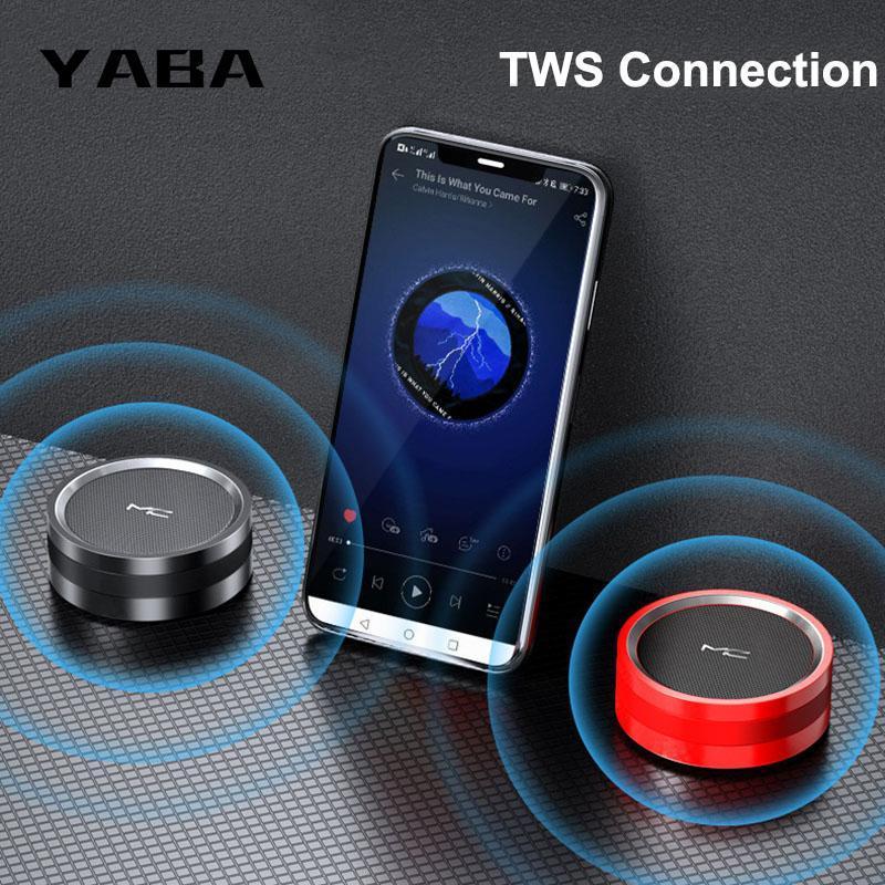 Yaba Mini Беспроводной Портативный Bluetooth Динамик Стерео Советник AUX TF Музыка Музыка Колонка Subwoofer USB Динамики Для Компьютерных телефонов