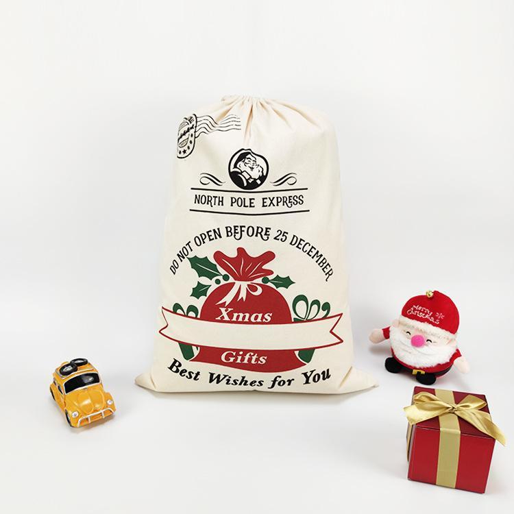 70 * 50 cm Party Dekoration Weihnachtsgeschenkbeutel Weihnachten Element Pickup Truck Baum Christma Taschen Reiner Baumwolle Strahl Mund Süßigkeiten Tasche
