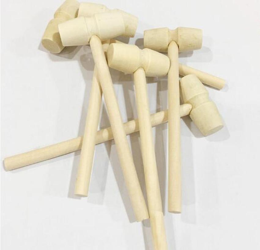 Mini martillo de madera bolas de juguete Pounder Reemplazo de madera Mallets Joyería Artesanía