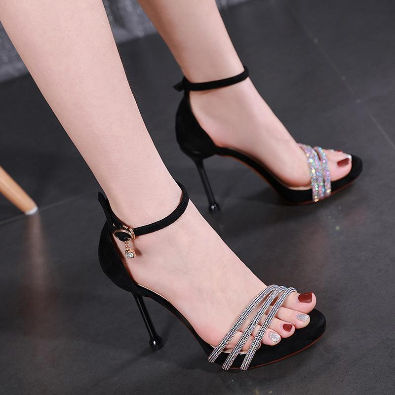 Сандалии STILETTO COLELS COFFORTE Обувь для женского костюма Женщина Бежевый All-Match Bandkle Brap Espadriilles Platform Мода Девушки Высокий C