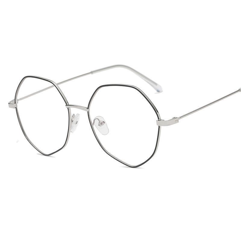 Gran lente poligonal coreano para lentes de metal irregular puede estar equipada con gafas de marco de miopía