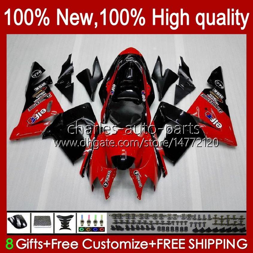 Kropps kit OEM för Kawasaki Ninja ZX1000C ZX 10 R 1000 CC ZX1000 04-05 Bodywork 9No.16 Glänsande röd ZX 10R 1000CC ZX10R 04 05 ZX-10R ZX1000CC 2004 2005 Motorcykelfearing