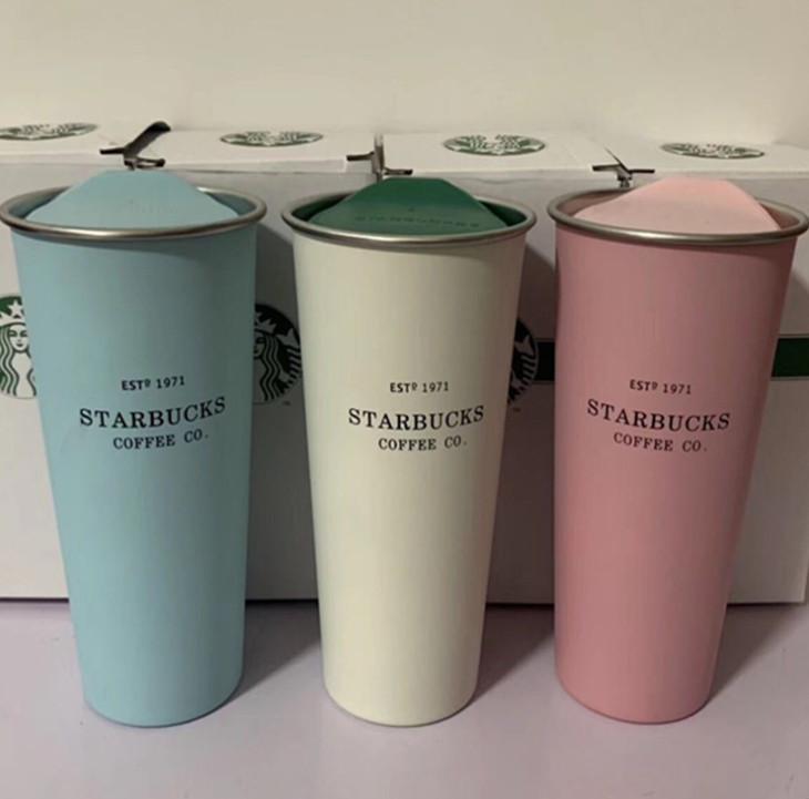 L'ultima tazza di caffè in acciaio inox Starbucks in acciaio inox con coperchio, Starbucks vari stili di boccetta sottovuoto, spedizione gratuita 116 S2