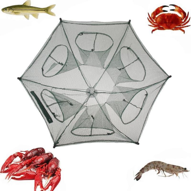 4-16 buracos rede de pesca rede de fundição rede de lagostins / nerap para pesca camarão lagostim categer armadilha gaiola Folding peixe rede