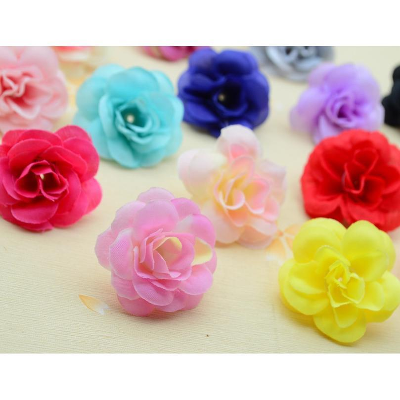 30pcs 4cm Artificial Flowers Home Decoration For Holiday Accessories Christmas Wedding Scrapbooking Diy Wreath Gift Si qylxwM