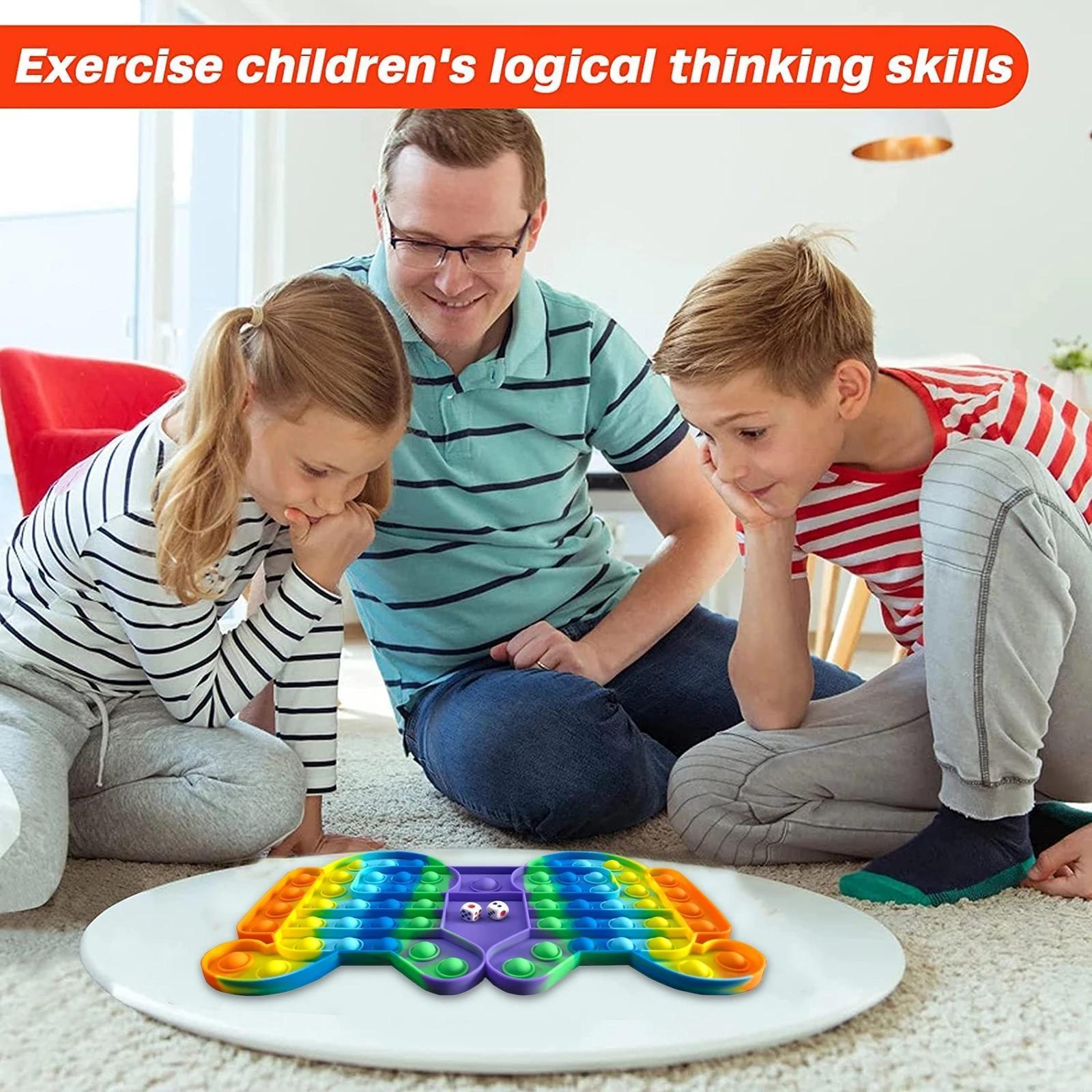 DHL Son Büyük Boy Oyunu Fidget Oyuncak Gökkuşağı Satranç Itme Kabarcık Fidget Sensory Oyuncaklar Ebeveyn-Çocuk Zaman INTERACTICTICT GAME GYQ