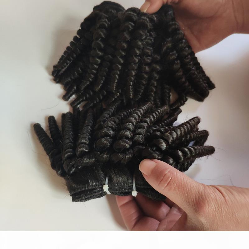 Новый стиль афро вьющиеся необработанные бразильские девственные волосы Weaves 8-16 дюймов двойной уток 300 г Лот черная леди мода волос ExtensionStory Store