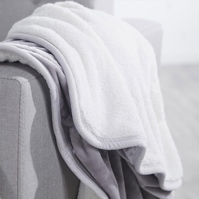 Manta de doble capa engrosada Cape Shawal Invierno Warm Wrap Lanzar la alfombra para hombres hombres