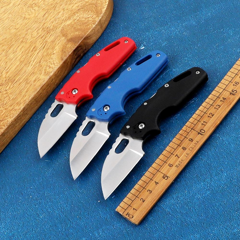 Portable Mini AUS-8A Steel Blade Nylon Fiberglass Handle Folding Outdoor Camping Hunting Self-Defense EDC Tool Kitchen Fruit Knife
