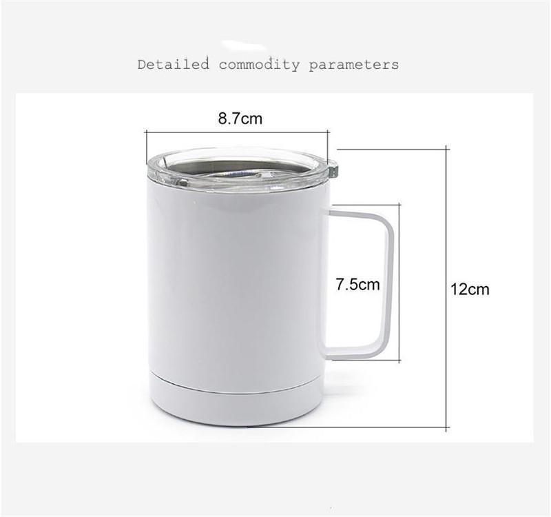 Blank Sublimation Wine Mugs Stainless Steel Insulated Coffee Cups Double Wall Vacuum Portable Travel Tumblers sea shipping ZZC7913