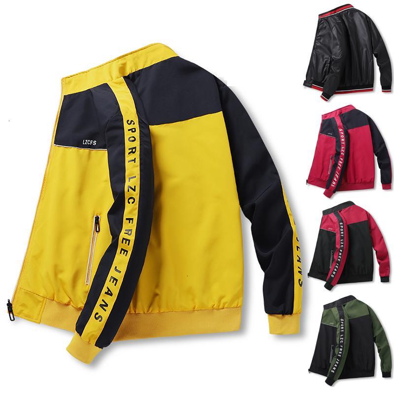2021 novo outono jaqueta de inverno masculino dois lados desgaste desportivo casaco slim apto outwear Mens simples estilo streetwear casual jackets plus siz 43lr