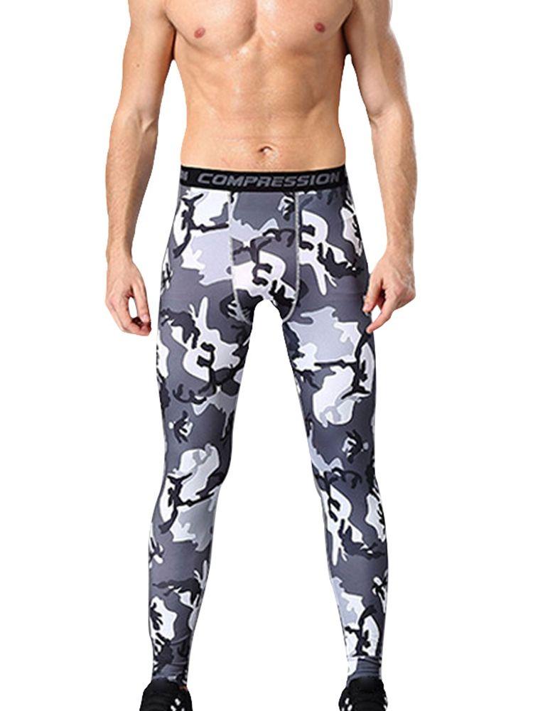 Calças de compressão dos homens leggings macio respirável calças longas ginásio ciclismo yoga rodando calças calças calças