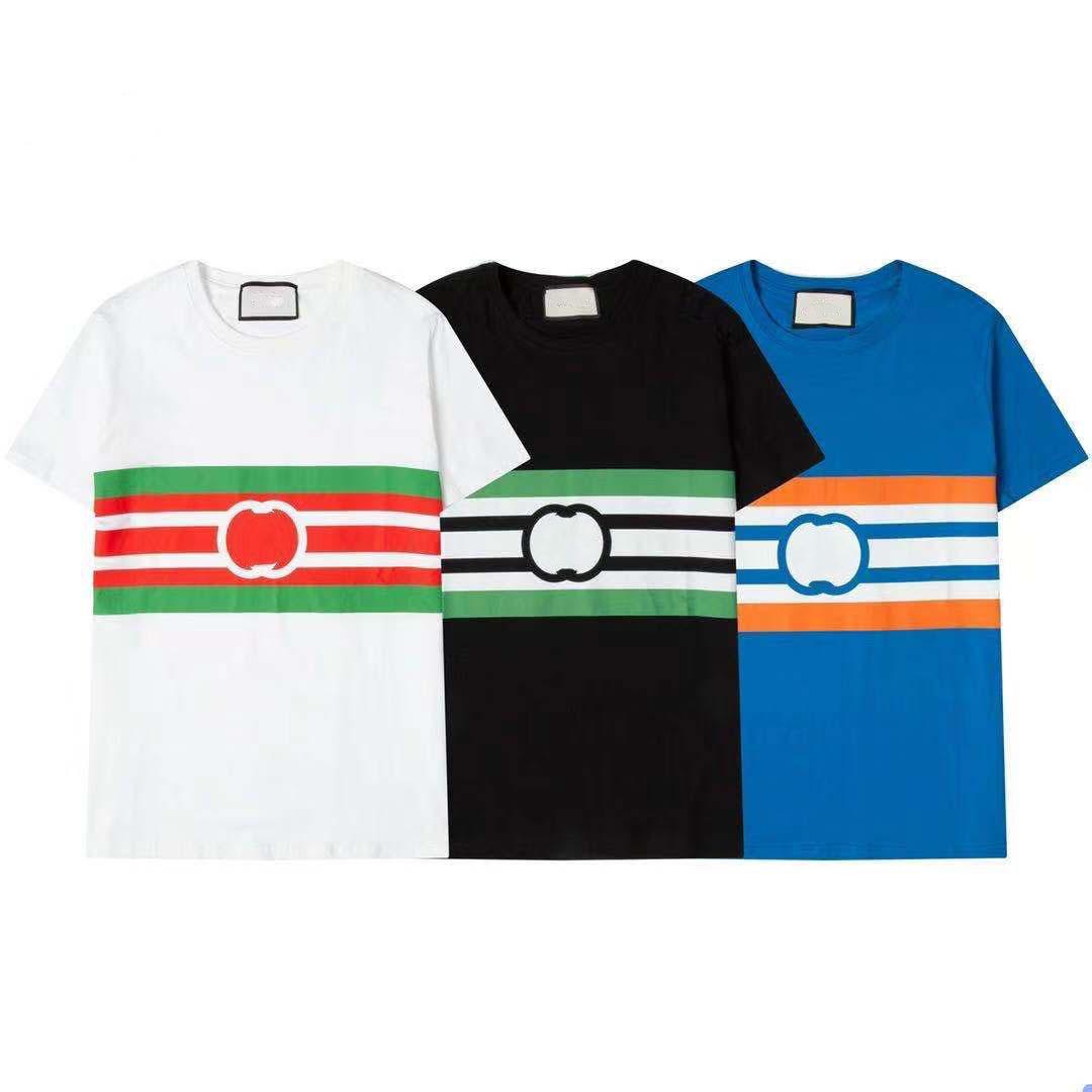 Мужская футболка дизайнер летние дамы спортивные дышащие хлопчатобумажные мода вышивка улица черное маленькое crewneck с коротким рукавом размер s-xxl большой