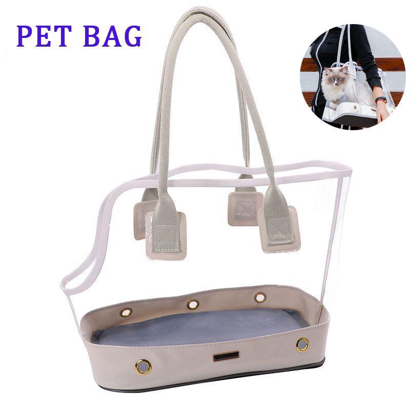 Modische transparente PET-Tasche für Katzen und Hunde Ausflugsuttasche für Hunde Tragbare Atmungsaktive langlebige britische Kurzhaar-Katze Produkt