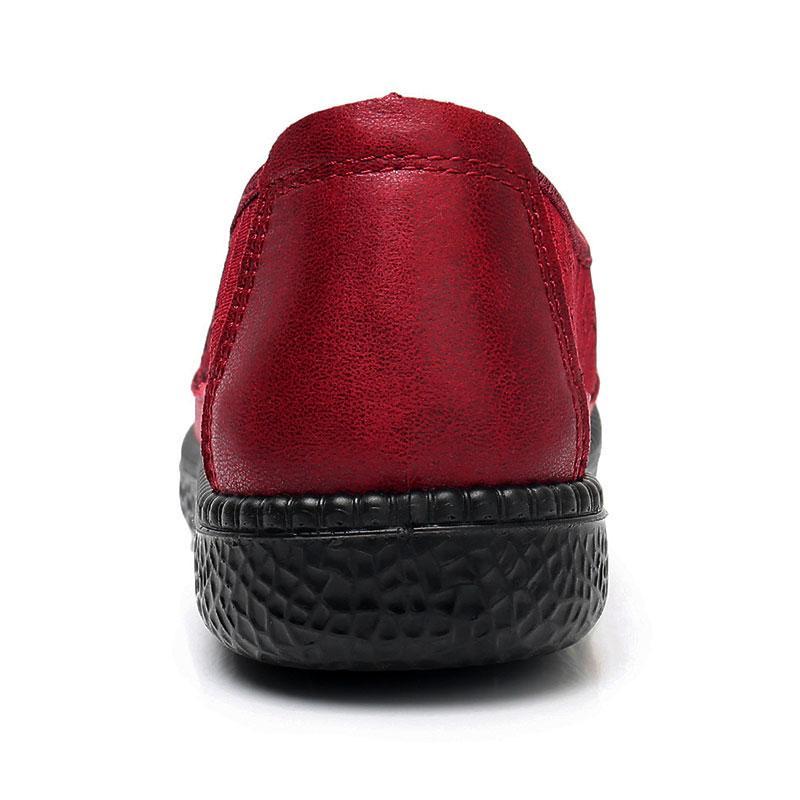 Özerklik Marka Kadın İşlemeli Ayakkabı Kırmızı Boyutu 29 En Kaliteli Spor Ayakkabı Düşük Kesilmiş Nefes Pedal Rahat Ayakkabılar