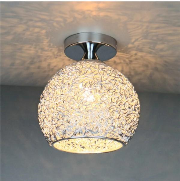 2PC Crystal Pendant Light Nordic LED Chandeliers Ceiling Light for Hall Corridor Bedroom